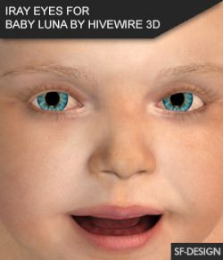 Iray Eyes for Baby Luna by Hivewire 3D