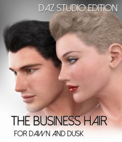 The Business Hair for Dawn and Dusk-Daz Studio Edition