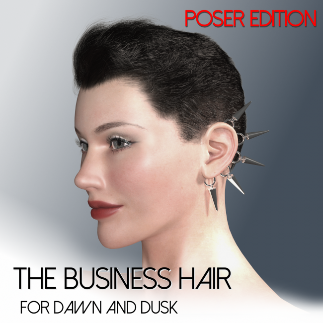 The Business Hair for Dawn and Dusk - Poser Edition