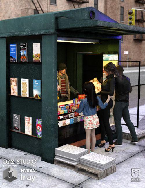 City Newsstand | 3D models for Daz Studio and Poser