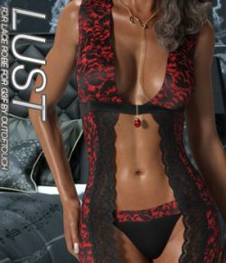 LUST - Lace Robe for Genesis 3 Female