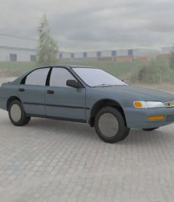 Honda Accord 1997 :: Wavefront OBJ - Extended License
