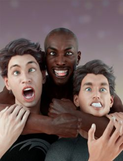 Grimaces - Dialable & One-Click Expressions for Genesis 3 Male