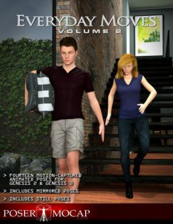 Everyday Moves Volume 2- Everyday Animations and Aniblocks for Genesis 2 and 3