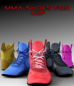 MMA Shoes for Genesis 2 Female