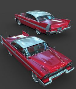 PLYMOUTH FURY 1958-EXTENDED LICENSE
