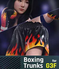 Boxing Trunks G3F for Genesis 3 Female