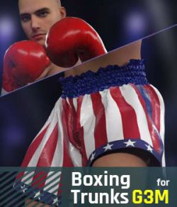 Boxing Trunks G3M for Genesis 3 Male