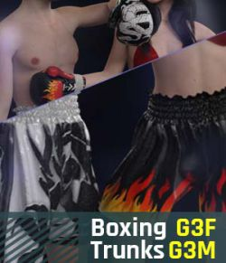 Boxing Trunks G3 Pack for Genesis 3 Female And Genesis 3 Male