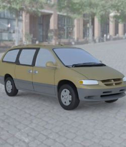 Dodge Caravan 1996 Wavefront OBJ - Extended License