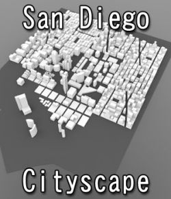 San Diego Cityscape- 3ds and obj - Extended License