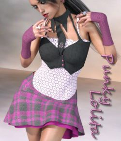 Punky Lolita Clothing for G3F & V7