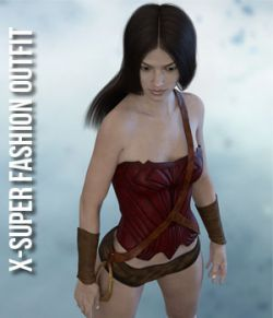 X-Super Fashion Outfit for Genesis 3 Females