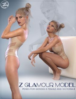Z Glamour Model - Poses for Genesis 8 Female and Victoria 8