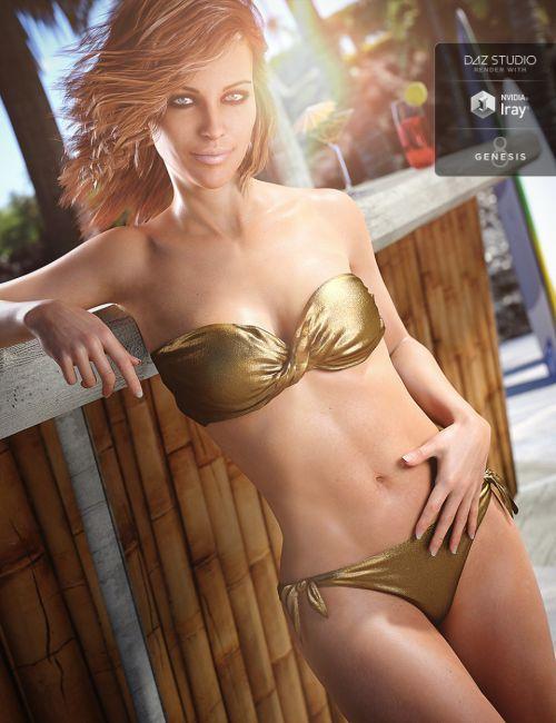 Bandeau Twist Bikini for Genesis 8 Female(s) | 3D models for
