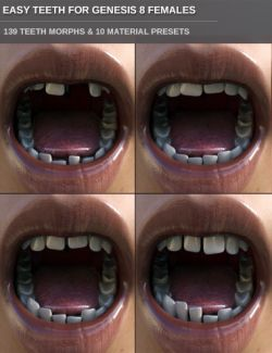 Easy Teeth for Genesis 8 Female(s) and Merchant Resource