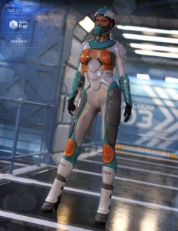 Andromeda Sci-Fi Outfit for Genesis 8 Female(s)
