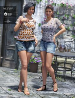 Boho Short Outfit Textures