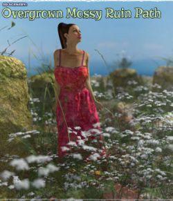 3D Scenery: Overgrown Mossy Ruin Path