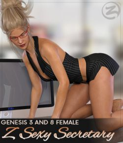 Z Sexy Secretary- Poses for Genesis 3 and Genesis 8 Female(s)