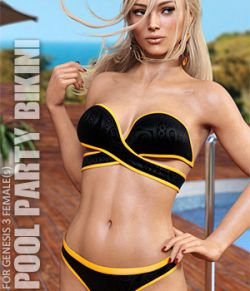 Pool Party Bikini for Genesis 3 Females