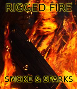 FSL Rigged and Morphing Fire Smoke and Sparks for Iray