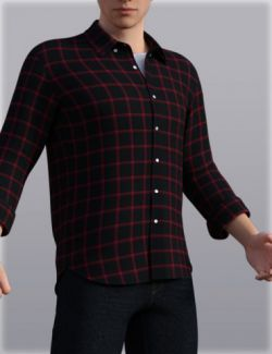 H&C Checkered Shirt Outfit for Genesis 3 Male(s)