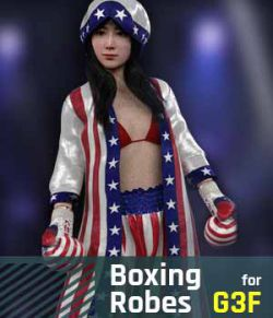 Boxing Robes G3F for Genesis 3 Female