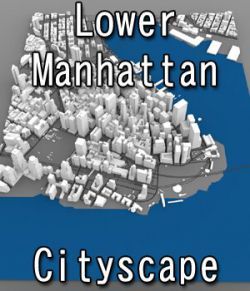 Lower Manhattan Cityscape - 3ds and obj - Extended License