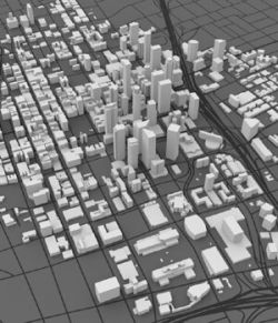 Los Angeles Cityscape 3ds and obj format - Extended License