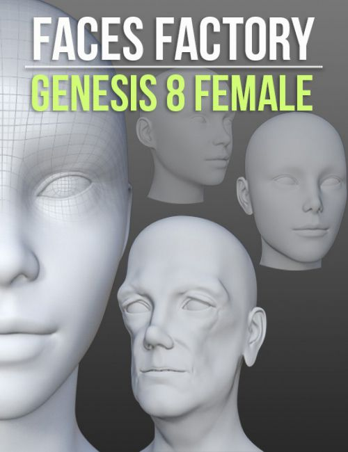 Faces Factory for Genesis 8 Female | 3D models for Daz