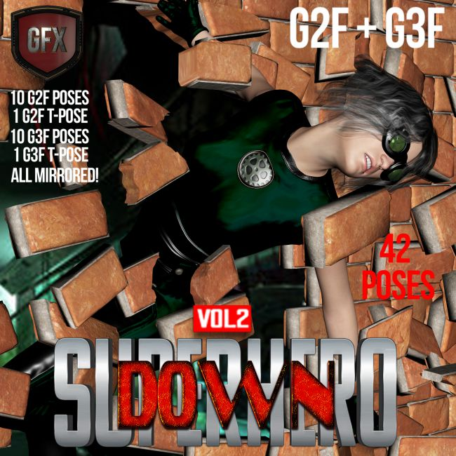 SuperHero Down for G2F & G3F Volume 2