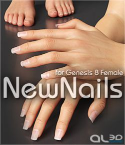 Al3ds NewNails for Genesis 8 Female - Merchant Resource
