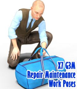 X7 G3M Repair Maintenance Work Poses