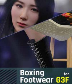 Boxing Footwear G3F for Genesis 3 Female