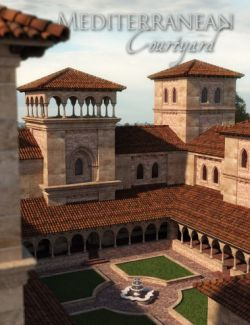 Mediterranean Courtyard and Towers