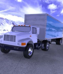 Truck with Trailer for Wavefront OBJ- Extended License