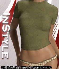 InStyle- X-Fashion Super T Shirts for Genesis 3 Females