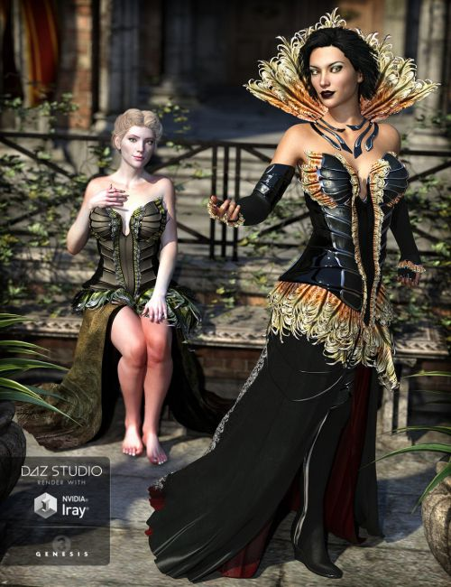 The Corvus Ensemble for Genesis 3 Female(s) and Genesis 8 Female(s)