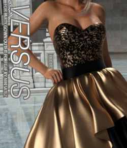 VERSUS- Party Gown Outfit for Genesis 3 Female(s)