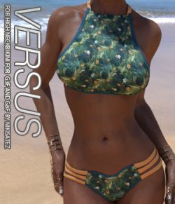 VERSUS- High Neck Bikini for Genesis 3 and Genesis 8 Females