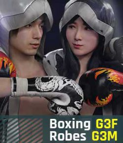 Boxing Robes G3 Pack for Genesis 3 Female and Male