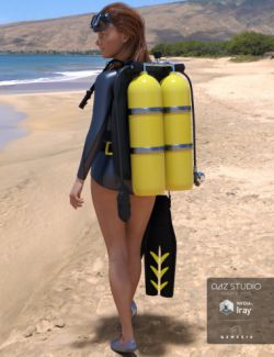 Twin-Cylinder Scuba Gear for Genesis 3 Female(s)
