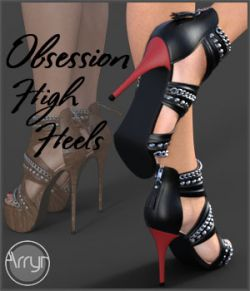 Obsession High Heels for Genesis 8 Females