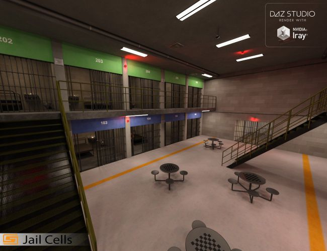 Jail Cell Block
