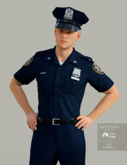 H&C Police Uniform for Genesis 3 Male(s)