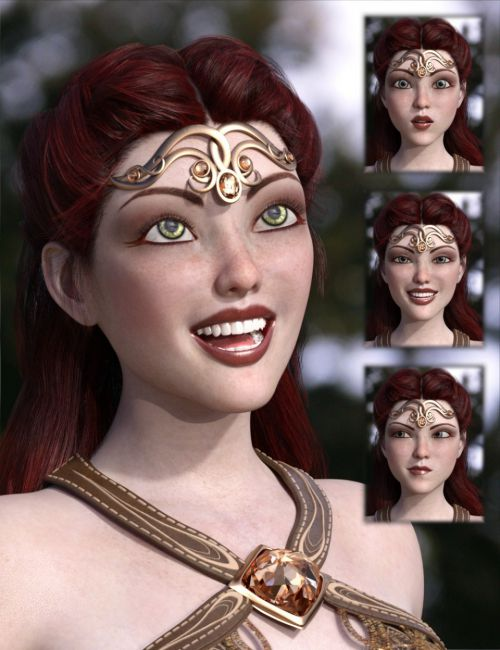 Celinette Expressions and Smile Morphs for Genesis 3 Female