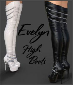 Evelyn High Boots for Genesis 8 Females