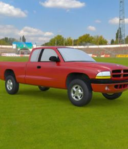 Dodge Dakota Ext Cab Pickup- 3ds and obj- Extended License