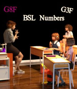 BSL Number Poses for G3F and G8F